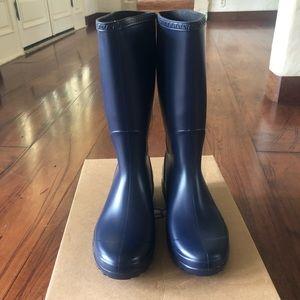 UGG NIB Shelby Matte rain boots women's navy